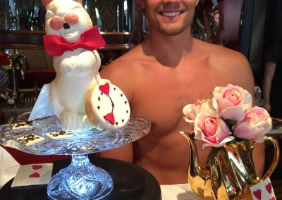 Topless waiter Erik
