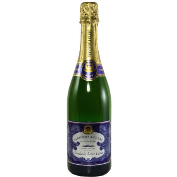 A bottle of Varichon Clerc sparkling wine