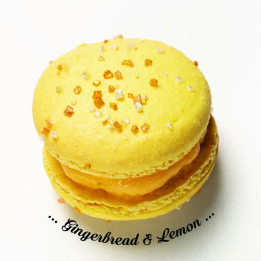 gingerbread and lemon macaron