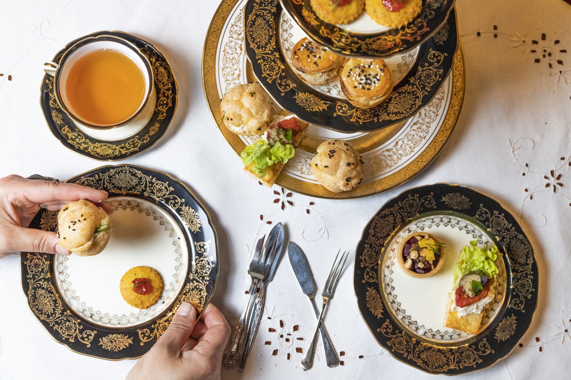 best high tea in melbourne french patisserie, savoury pastries